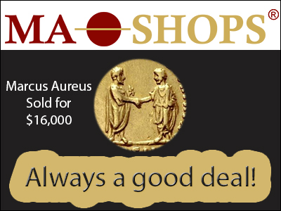 Aureus 169-180 Marcus Aurelius sold for $16,000 at MA-Shops