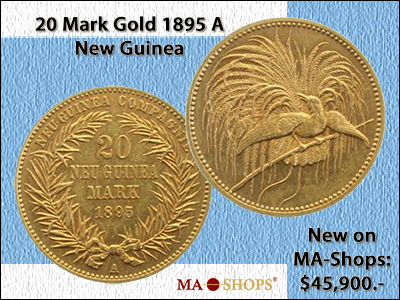 20 Mark Gold 1895 A New Guinea including Expertise EF