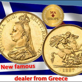 New Greek Dealer with beautiful World Coins at MA-Shops