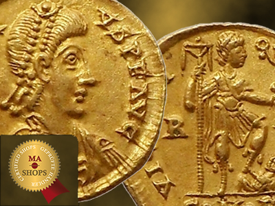 A B C – Solidus of Honorius