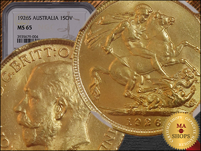 MA-Shops.com Offers Ultra-Rare, Near Mint 1926-S Sovereign