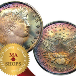 US 1896 50c PCGS/CAC MS66+