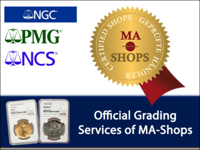NGC and PMG Named Official Grading Services of MA-Shops