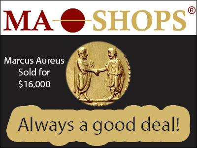 Aureus 169-180 Marcus Aurelius sold for $16,000 at MA-Shops