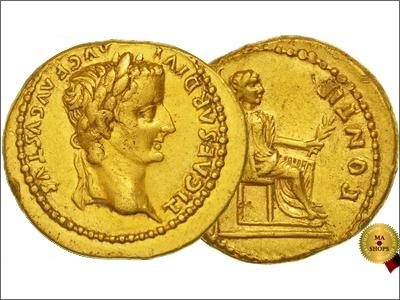 Aureus of Tiberius 14-37 AD