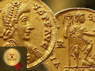 A B C – Solidus of Honorius